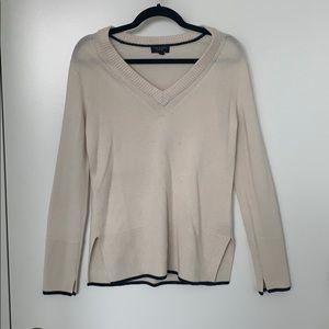 Rag & Bone 100% Cashmere Off-White V-Neck Sweater